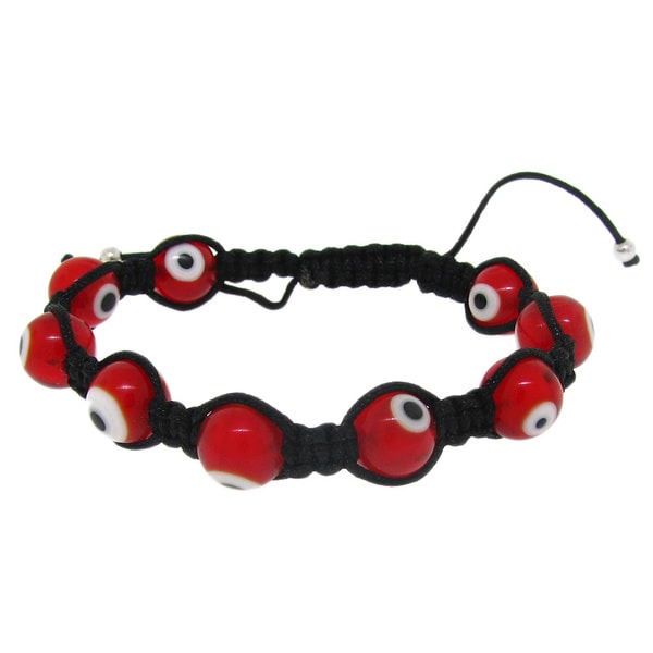 Macrame Red Evil Eye Bracelet
