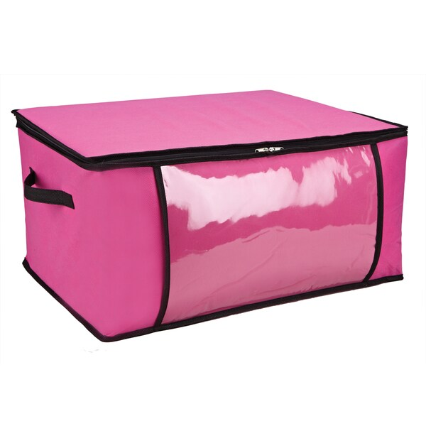 Pink/ Black Blanket Storage Bag