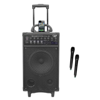 Pyle PWMA970 300 Watt Dual Channel Wireless Rechageable Portable PA System With iPod/iPhone Dock, FM Radio /USB/SD (Refurbished)