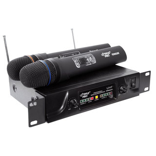 PylePro PDWM2600 Dual UHF Wireless Microphone System (Refurbished)