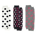 Polka Dot White, Grey and Black Baby Leggings (Set of 3)