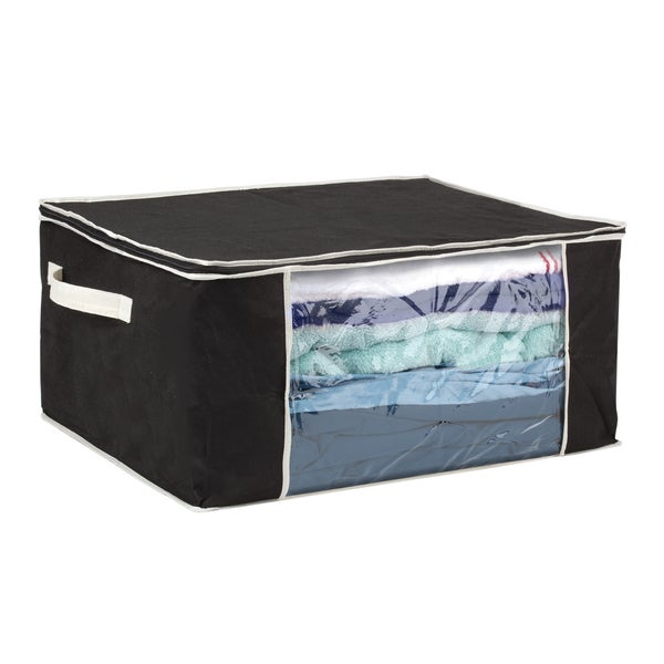 Black/ Cream Blanket Storage Bag