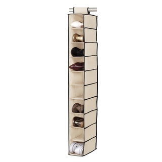 10-shelf Cream/ Black Shoe Organizer