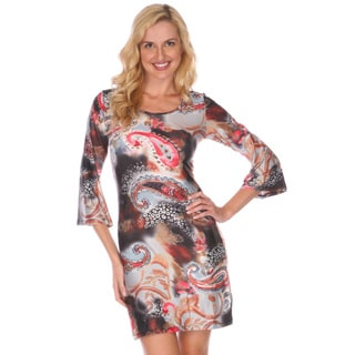 Women's 'Rodeo' Print Bell Sleeve Mini Dress