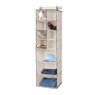 8 Shoe Pocket and 3 Shelf Hanging Organizer