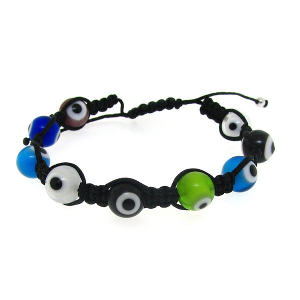 Macrame Multi-Color Evil Eye Bracelet