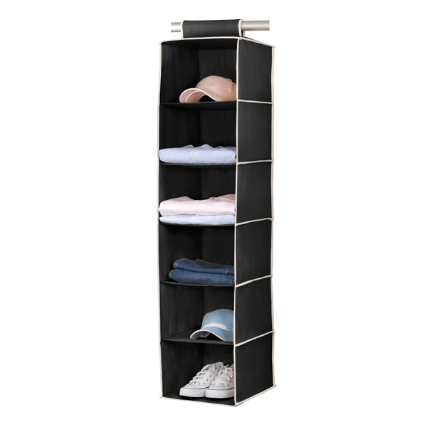 6-shelf Black/ Cream Sweater Organizer