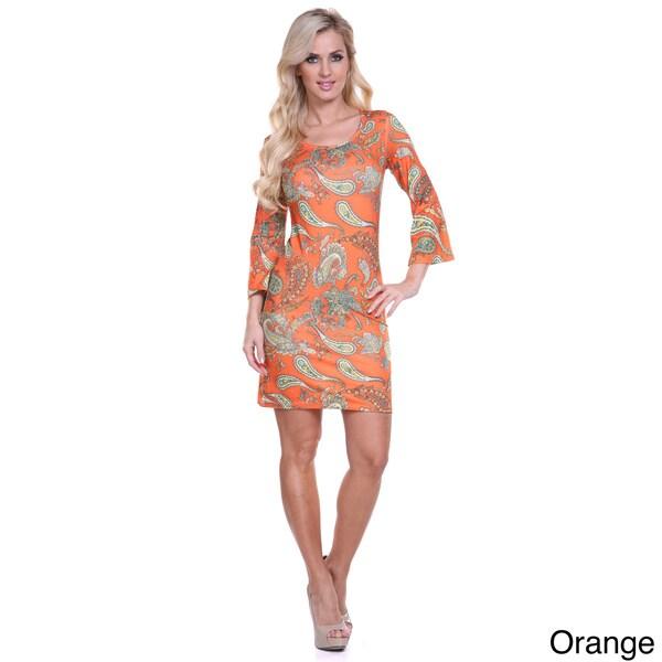 Women's 'Malibu' Print Long Sleeve Mini Dress