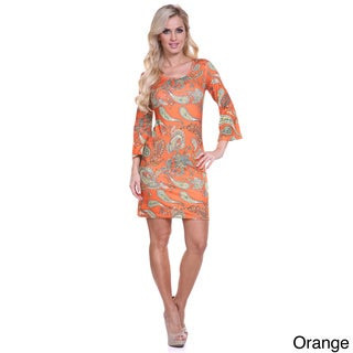 Women's 'Malibu' Print Long Sleeve Mini Dress