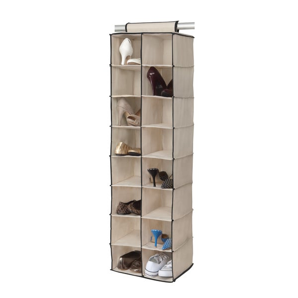 16 Compartment Hanging Shoe Organizer 15831436 Overstock Com Shopping Great Deals On