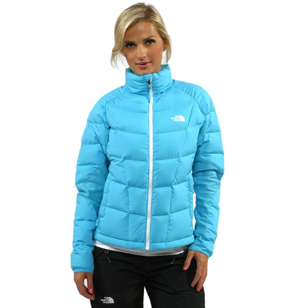 The North Face A-Back Turquoise Blue Hybrid Down Jacket