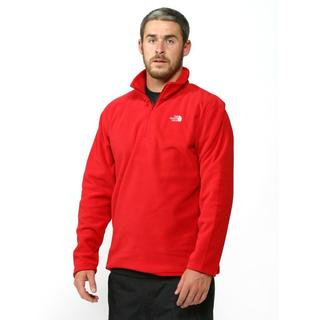North Face Men's 100 Glacier 1/4 Zip TNF Red Fleece Jacket