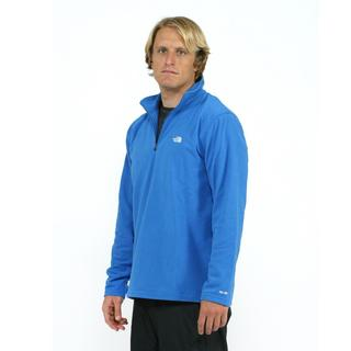 North Face Men's TKA 100 Glacier 1/4 Zip Jake Blue Fleece Jacket
