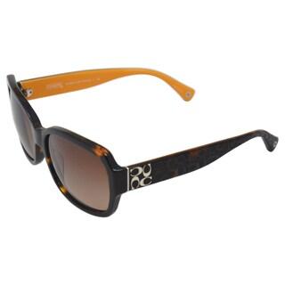 Coach Women's 'Emma HC8001 505513' Dark Tortoise Sunglasses