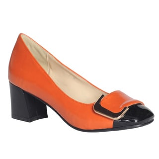 DimeCity Women's 'Angela' Buckle Pump Heels