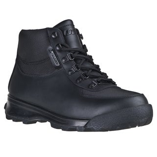 Lugz Men's 'Ratchet' Black Lace-up Leather Boots