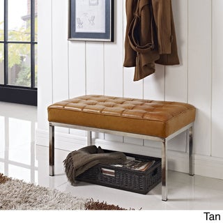 Loft Two-Seater Leather Bench