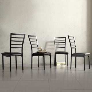 Espresso Contoured Metal Dining Chair (Set of 4)