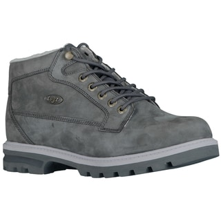 Lugz Men's 'Brigade Fleece' Charcoal Nubuck Lace-up Boots