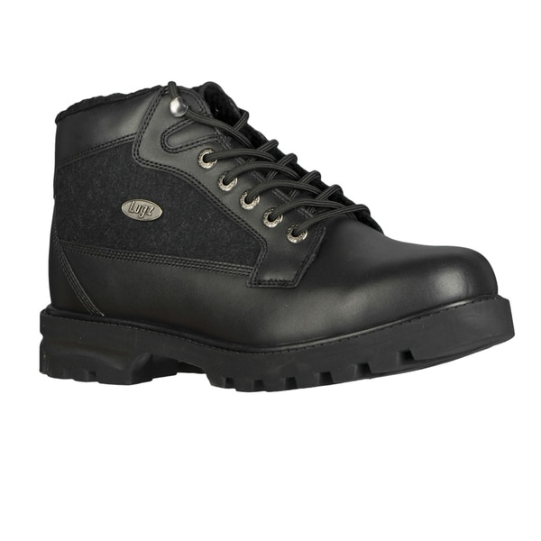 Lugz Men's 'Brigade Fleece' Black Leather Ankle Boots