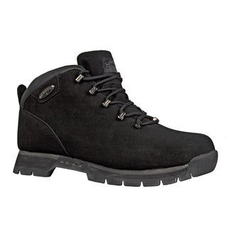 Lugz Men's 'JAM II' Black Leather Lace-up Ankle Boots