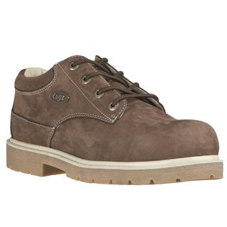 Lugz Men's 'Drifter Lo' Mocha Nubuck Leather Lace-up Boots