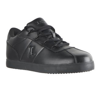 Lugz Men's 'Zrocs SR' Black Leather Slip Resistant Sneakers