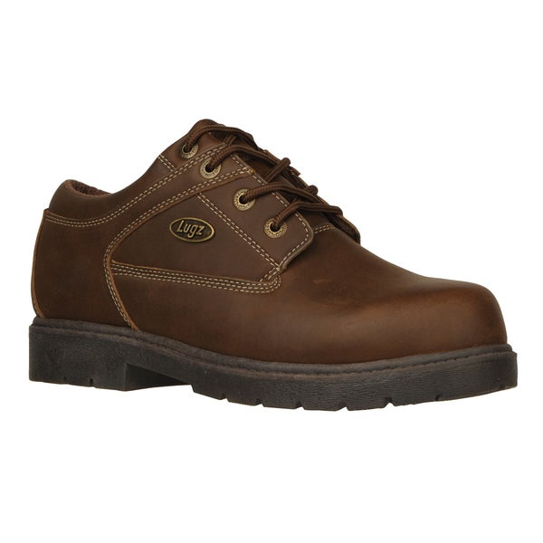 Lugz Menu0026#39;s U0026#39;Savoy SRu0026#39; Brown Leather Slip-resistant Work Shoes - 15831577 - Overstock.com ...