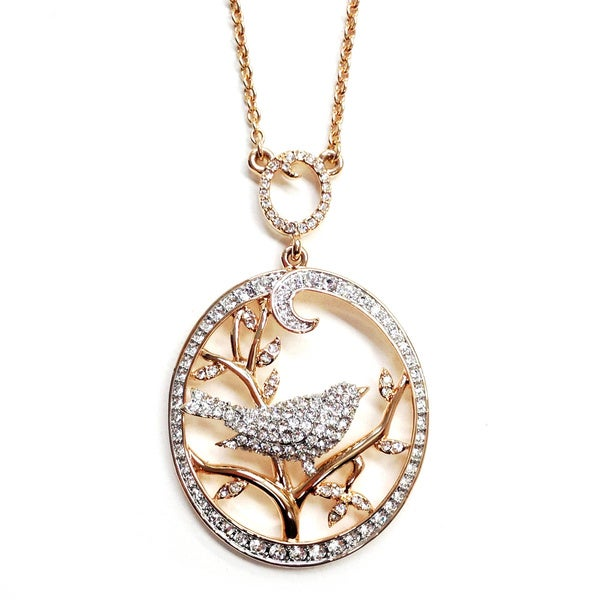 Bird in Tree Pendant Necklace