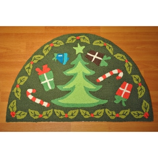 Christmas Tree Half Moon Rug (2' x 4')