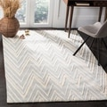 Safavieh Contemporary Handmade Moroccan Cambridge Gray/ Ivory Wool Rug (4' x 6')