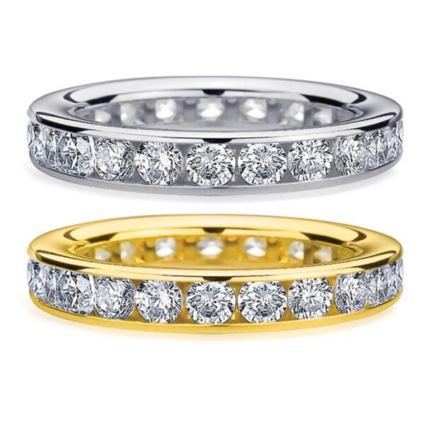 Amore 14k White/Yellow Gold 2ct TDW Diamond Wedding Band (H-I, I1-I2)