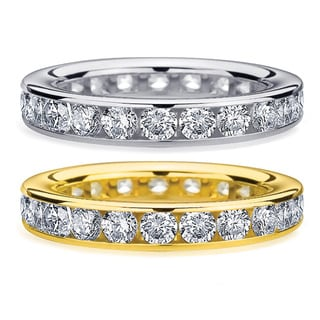 14K Gold 2ct TDW Machine-set Diamond Eternity Band (H-I, I1-I2)