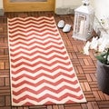 Safavieh Indoor/ Outdoor Courtyard Red Rug (2'3 x 8')