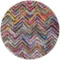 Safavieh Handmade Nantucket Multicolored Cotton Area Rug (4' Round)