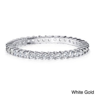 Amore 14K Gold 1/2ct TDW Machine-set Diamond Eternity Band (H-I, I1-I2)