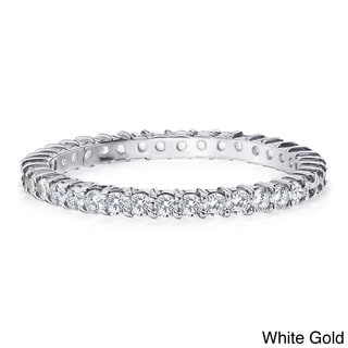 14K Gold 1/2ct TDW Machine-set Diamond Eternity Band (H-I, I1-I2)