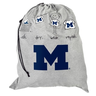 Forever Collectibles NCAA Michigan Wolverines Drawstring Laundry Bag