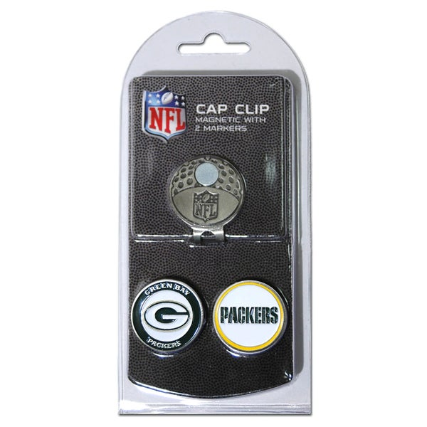 NFL Green Bay Packers Magnetic Cap Clip and Marker Set
