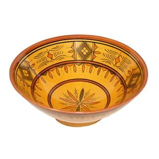 Moroccan Berber Yellow Ceramic Bowl (Morocco)