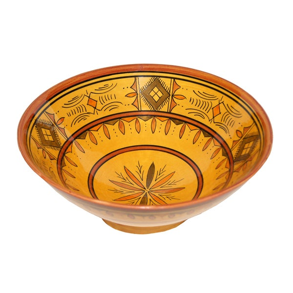 Moroccan Berber Yellow Ceramic Bowl (Morocco) 12058557