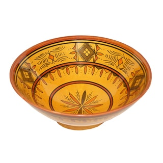 Moroccan Berber Yellow Ceramic Bowl (Morocco)