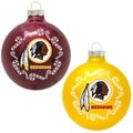 NFL Washington Redskins Home and Away Glass Ornaments