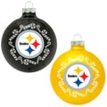 NFL Pittsburgh Steelers Home and Away Glass Ornaments