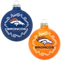 NFL Denver Broncos Home and Away Glass Ornaments