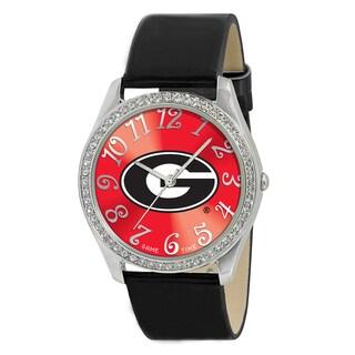 Game Time NCAA Georgia Bulldogs Women's Glitz Patent Leather Watch