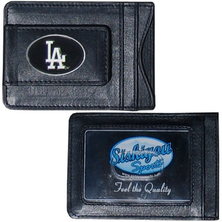 Los Angeles Dodgers Leather Money Clip and Cardholder