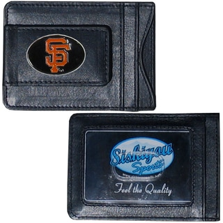 MLB San Francisco Giants Leather Money Clip and Cardholder