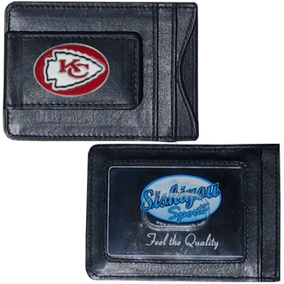 Kansas City Chiefs Leather Money Clip and Cardholder