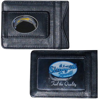 NFL San Diego Chargers Leather Money Clip and Cardholder